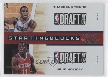 2010-11 Playoff Contenders Patches Starting Blocks #17 - Thaddeus Young, Jrue Holiday