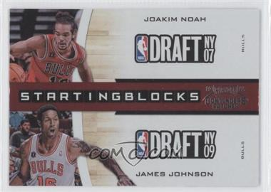 2010-11 Playoff Contenders Patches Starting Blocks #18 - Joakim Noah, James Johnson