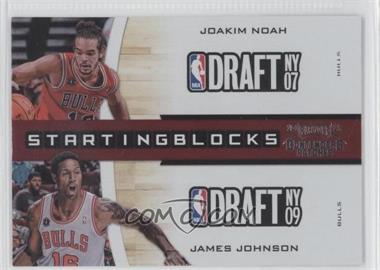 2010-11 Playoff Contenders Patches Starting Blocks #18 - Joakim Noah, James Johnson