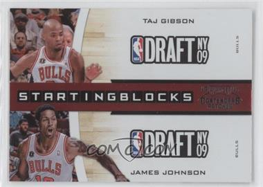 2010-11 Playoff Contenders Patches Starting Blocks #21 - Taj Gibson, James Johnson