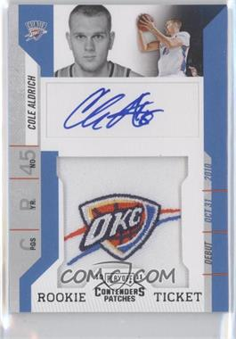 2010-11 Playoff Contenders Patches #111 - Rookie Ticket Autograph - Cole Aldrich
