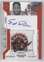 Rookie Ticket Autograph - Ed Davis