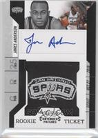 Rookie Ticket Autograph - James Anderson