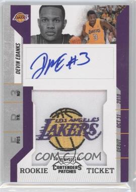 2010-11 Playoff Contenders Patches #134 - Devin Ebanks