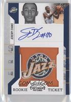 Rookie Ticket Autograph - Jeremy Evans