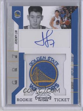 2010-11 Playoff Contenders Patches #141 - Rookie Ticket Autograph - Jeremy Lin