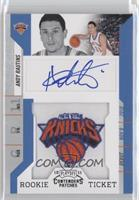Rookie Ticket Autograph - Andy Rautins