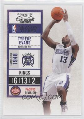 2010-11 Playoff Contenders Patches #15 - Tyreke Evans