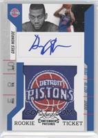Rookie Ticket Autograph - Greg Monroe