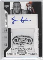 Rookie Ticket Autograph - James Anderson