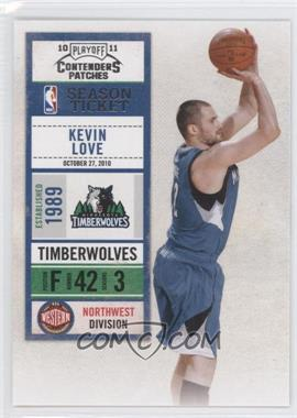2010-11 Playoff Contenders Patches #33 - Kevin Love