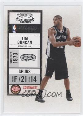 2010-11 Playoff Contenders Patches #44 - Tim Duncan