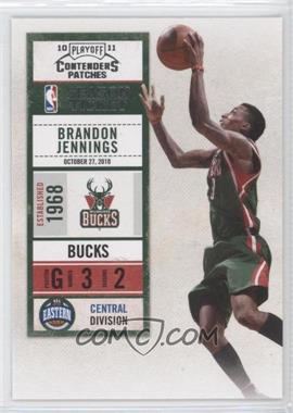 2010-11 Playoff Contenders Patches #82 - Brandon Jennings