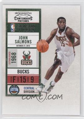 2010-11 Playoff Contenders Patches #83 - John Salmons
