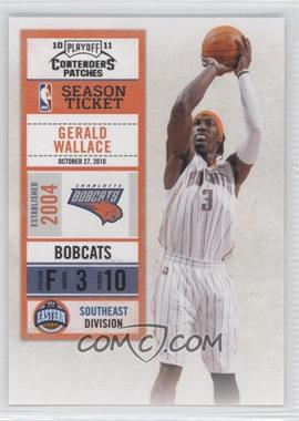 2010-11 Playoff Contenders Patches #90 - Gerald Wallace