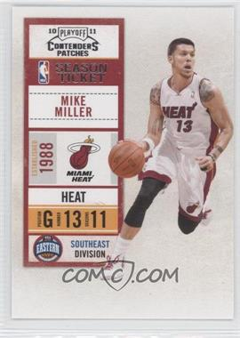 2010-11 Playoff Contenders Patches #94 - Mike Miller