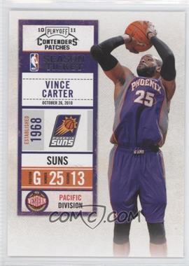 2010-11 Playoff Contenders Patches #96 - Vince Carter