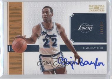 2010-11 Playoff National Treasures - All Decade - Signatures [Autographed] #3 - Elgin Baylor /25