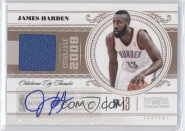 2010-11 Playoff National Treasures - [Base] - Century Materials Signatures [Autographed] [Memorabilia] #70 - James Harden /49