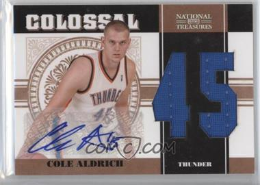 2010-11 Playoff National Treasures - Colossal Materials - Jersey Number Signatures [Autographed] #36 - Cole Aldrich /49