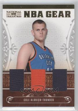 2010-11 Playoff National Treasures - NBA Gear Materials - Trios #25 - Cole Aldrich /99