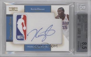 2010-11 Playoff National Treasures - Signature Patches - NBA Logoman #17 - Kevin Durant /10 [BGS8.5]