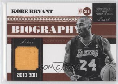 2010-11 Playoff National Treasures Biography Materials #2 - Kobe Bryant /99