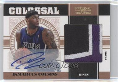 2010-11 Playoff National Treasures Colossal Materials Signatures Prime [Autographed] #13 - DeMarcus Cousins /10