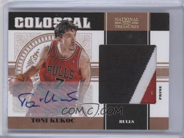 2010-11 Playoff National Treasures Colossal Materials Signatures Prime [Autographed] #41 - Toni Kukoc /12