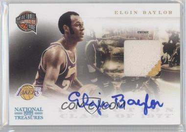 2010-11 Playoff National Treasures Hall of Fame Materials Signatures Prime [Autographed] [Memorabilia] #16 - Elgin Baylor /10