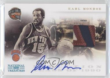 2010-11 Playoff National Treasures Hall of Fame Materials Signatures Prime [Autographed] [Memorabilia] #21 - Earl Monroe /25