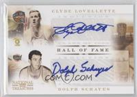 Clyde Lovellette, Dolph Schayes /50