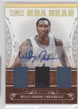 2010-11 Playoff National Treasures NBA Gear Materials Trios Signatures [Autographed] #16 - Wesley Johnson /30
