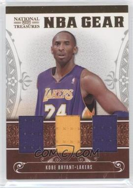 2010-11 Playoff National Treasures NBA Gear Materials Trios #7 - Kobe Bryant /99