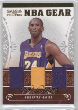 2010-11 Playoff National Treasures NBA Gear Materials Trios #7 - Kobe Bryant /99