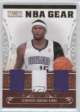 2010-11 Playoff National Treasures NBA Gear Materials Trios #8 - DeMarcus Cousins /99