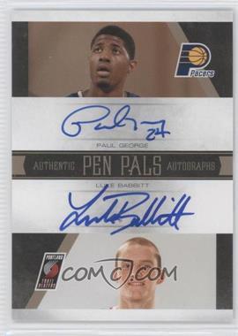 2010-11 Playoff National Treasures Pen Pals Signatures #6 - Luke Babbitt, Paul George /25
