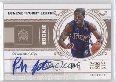 "2010-11 Playoff National Treasures Signatures [Autographed] #196 - Eugene ""Pooh"" Jeter /99"