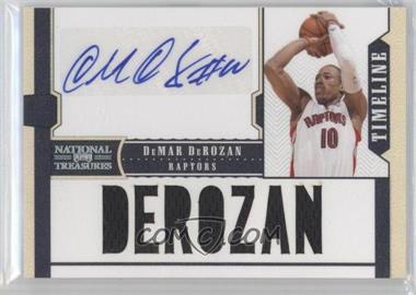 2010-11 Playoff National Treasures Timeline Player Name Signatures [Autographed] #7 - DeMar DeRozan /30