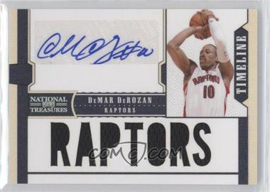 2010-11 Playoff National Treasures Timeline Team Nickname Signatures [Autographed] #7 - DeMar DeRozan /30