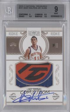 2010-11 Playoff National Treasures #231 - Andy Rautins /99 [BGS 9]