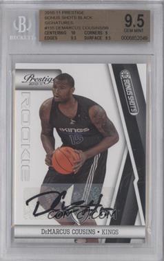 2010-11 Prestige - [Base] - Bonus Shots Black Autographs [Autographed] #155 - DeMarcus Cousins /99 [BGS9.5]