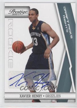 2010-11 Prestige - [Base] - Draft Picks Rights Autographs [Autographed] #162 - Xavier Henry /199