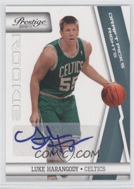 2010-11 Prestige - [Base] - Draft Picks Rights Autographs [Autographed] #242 - Luke Harangody /99
