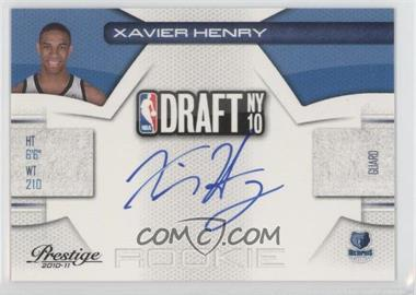 2010-11 Prestige - NBA Draft Class - Signatures [Autographed] #12 - Xavier Henry /292