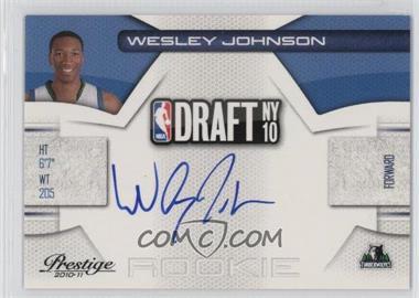 2010-11 Prestige - NBA Draft Class - Signatures [Autographed] #4 - Wesley Johnson /299