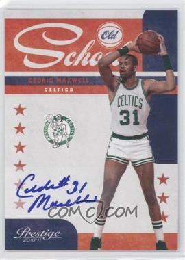 2010-11 Prestige - Old School - Signatures [Autographed] #19 - Cedric Maxwell /49