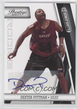 2010-11 Prestige Bonus Shots Black Autographs [Autographed] #182 - Dexter Pittman /49