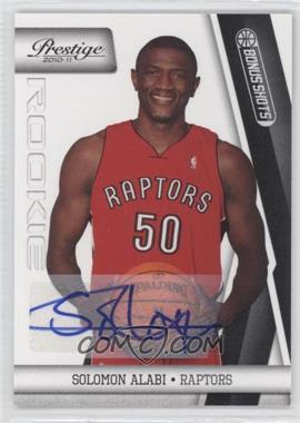 2010-11 Prestige Bonus Shots Black Autographs [Autographed] #200 - Solomon Alabi /99
