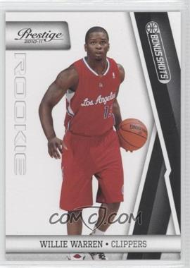 2010-11 Prestige Bonus Shots Black #243 - Willie Warren /10